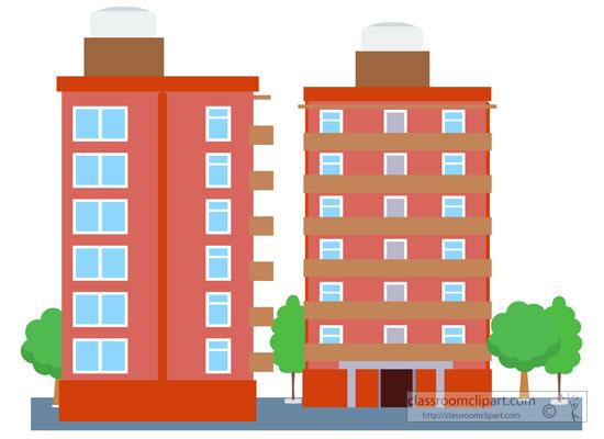 condominium building clipart. Size: 78 Kb