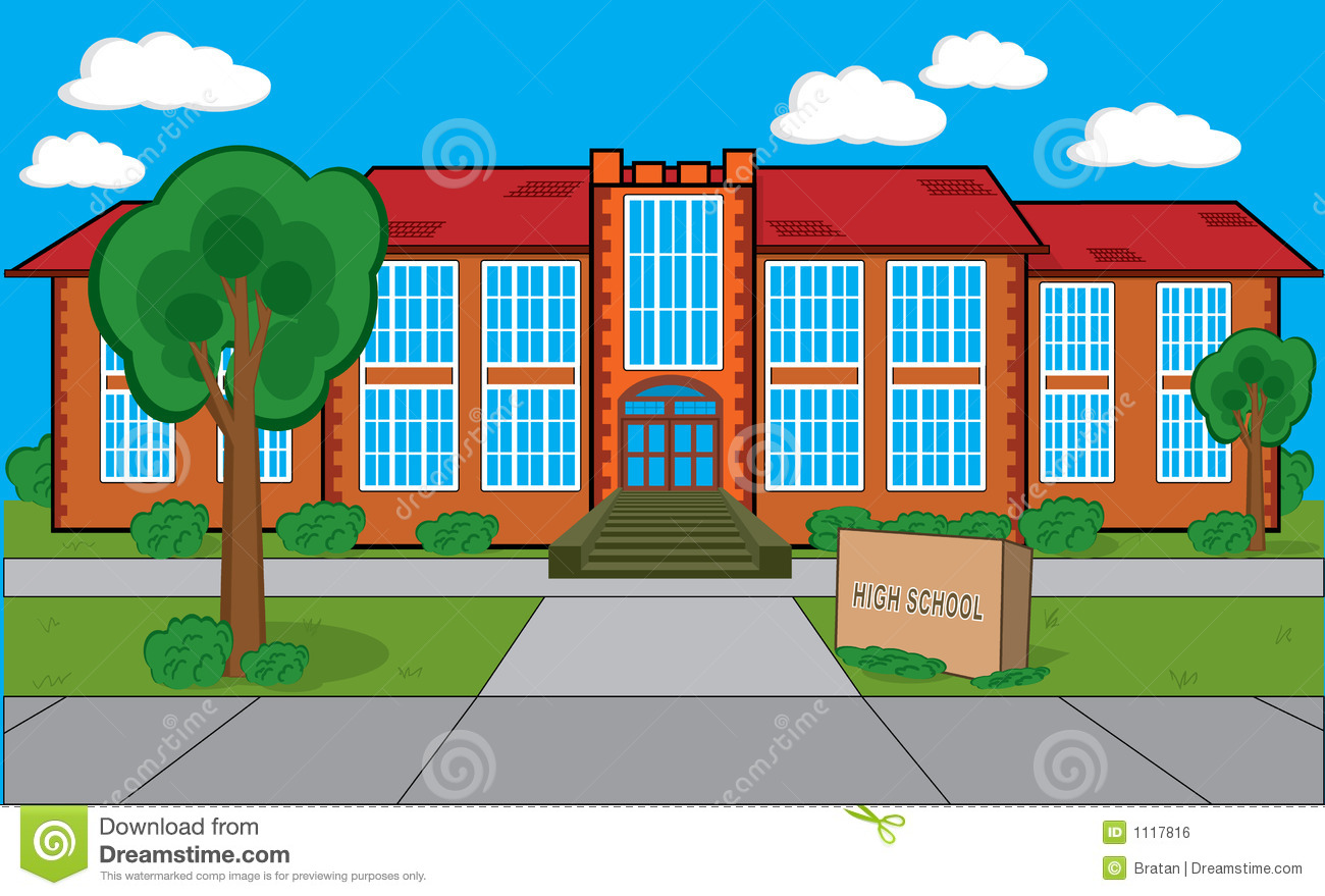 Building With Grass Trees Bushes Etc Cou-Building With Grass Trees Bushes Etc Could Be A High School-1