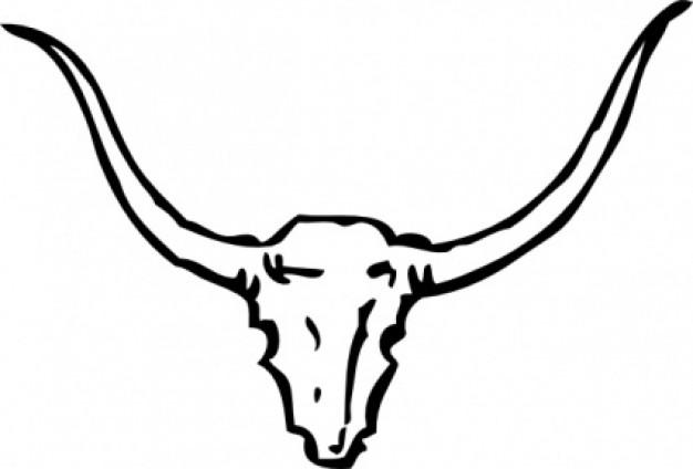 Bull Skull clip art Vector .-Bull Skull clip art Vector .-10