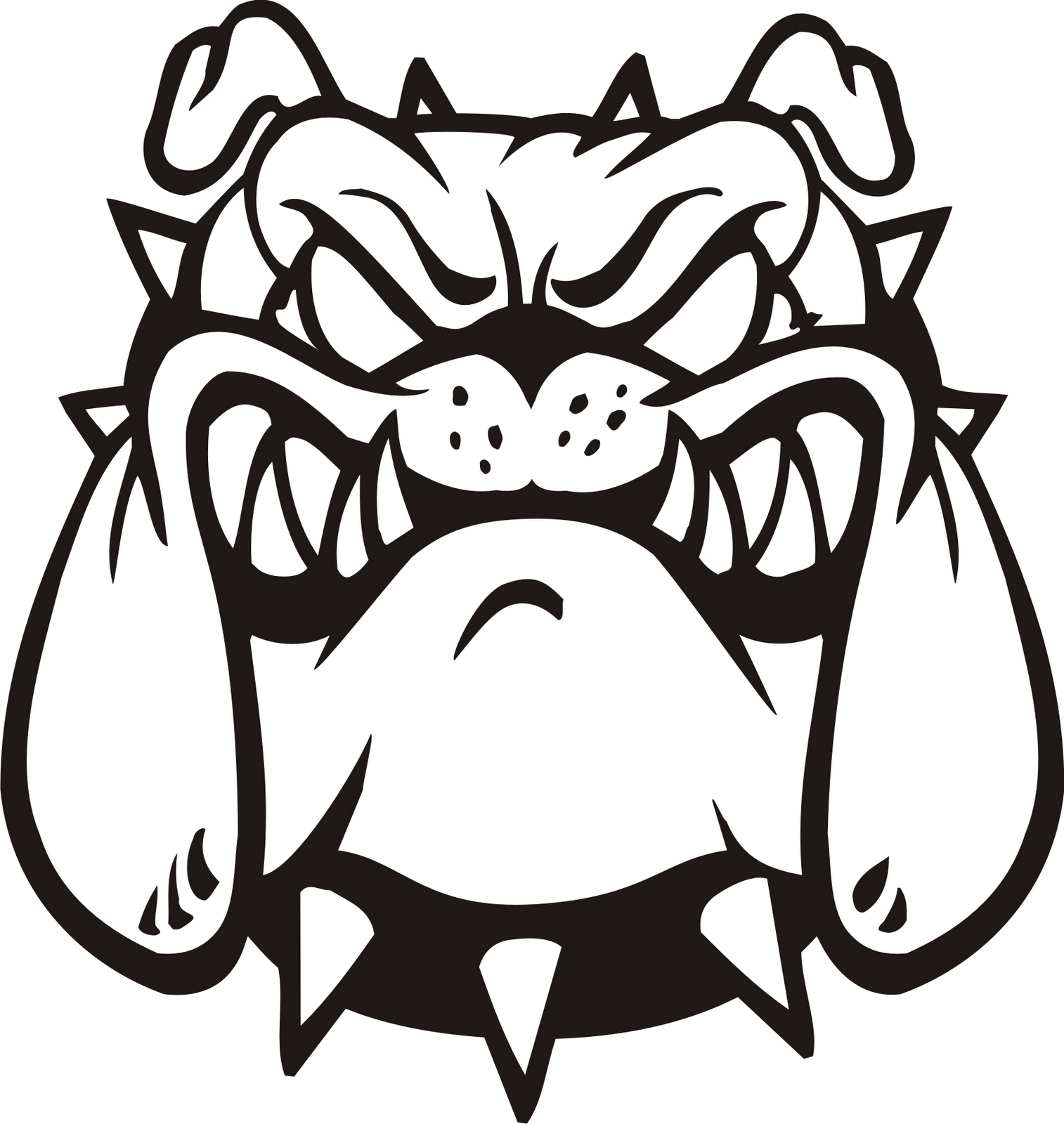 Bulldog Bull Dog Clip Art Clipart Image -Bulldog bull dog clip art clipart image 6-5