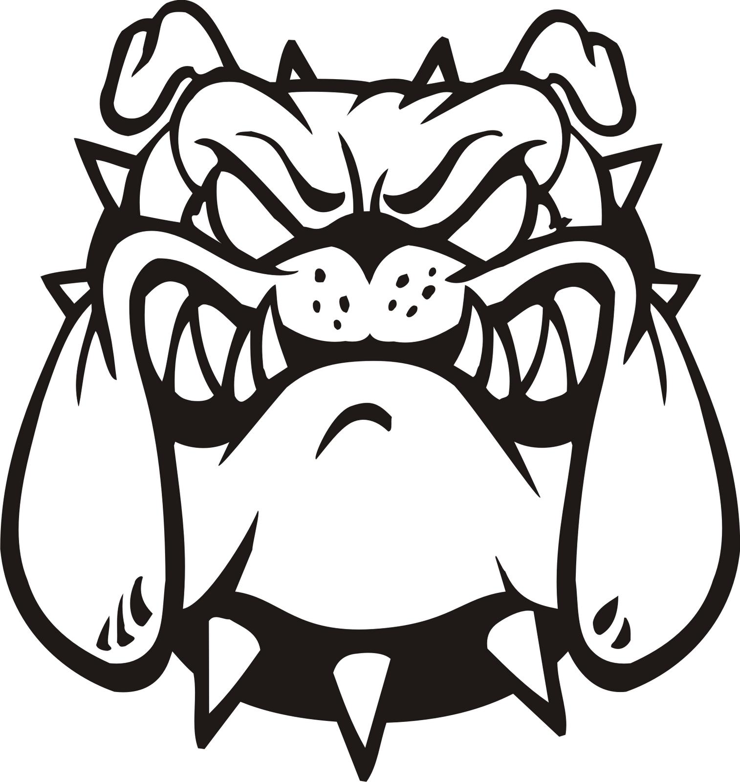 Bulldog dog clip art