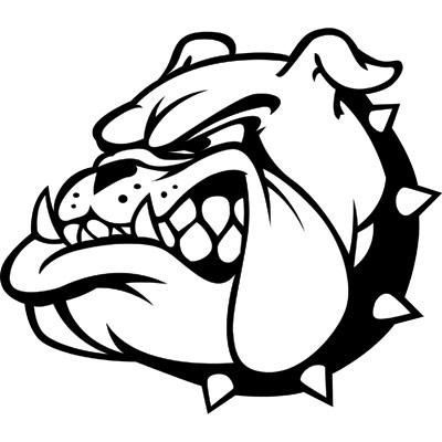 Bulldog face clip art dromggc - Bulldog Clipart