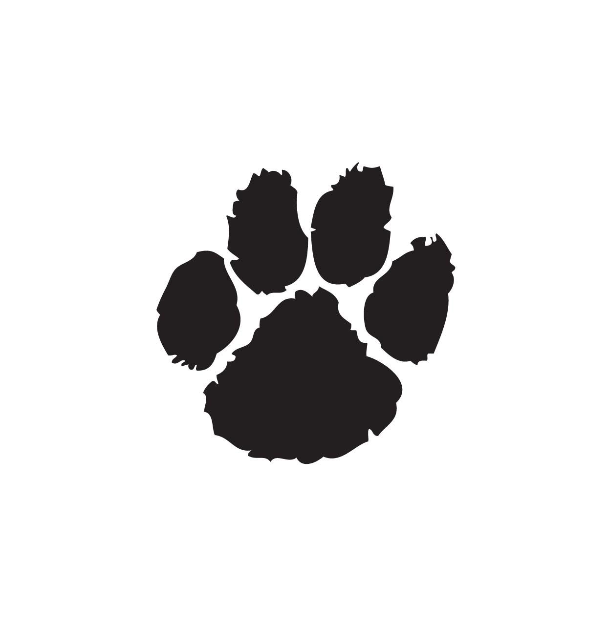 Bulldog paw print clipart 2