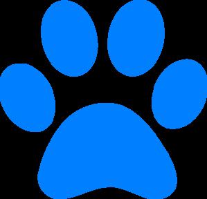 Bulldog paw print clipart 3