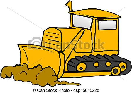 ... Bulldozer vector ...