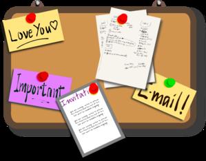 Bulletin Board Clip Art