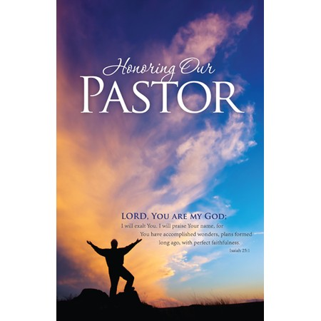 Bulletin for Pastor Appreciation Clip Art