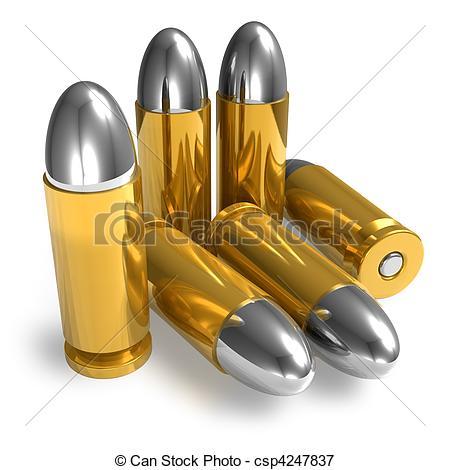Pistol bullets - csp4247837