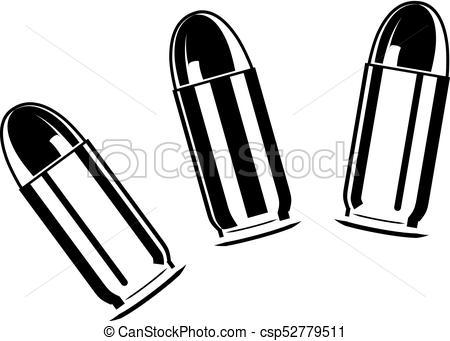 Set of bullets for pistol - csp52779511