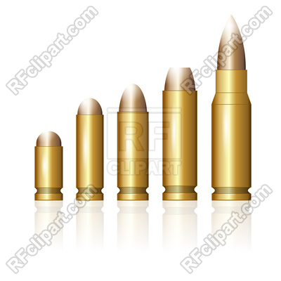 Set of Different Size Bullets, 184627, download royalty-free vector vector  image ClipartLook.com