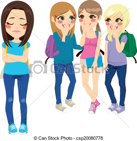 Bullying background concept Clipartby kg-Bullying background concept Clipartby kgtoh6/361; School Girls Bullying - Three school girls bullying poor sad.-9
