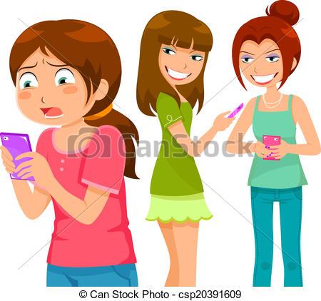 ... bullying through cell phone - girl b-... bullying through cell phone - girl being bullying by her... ...-14