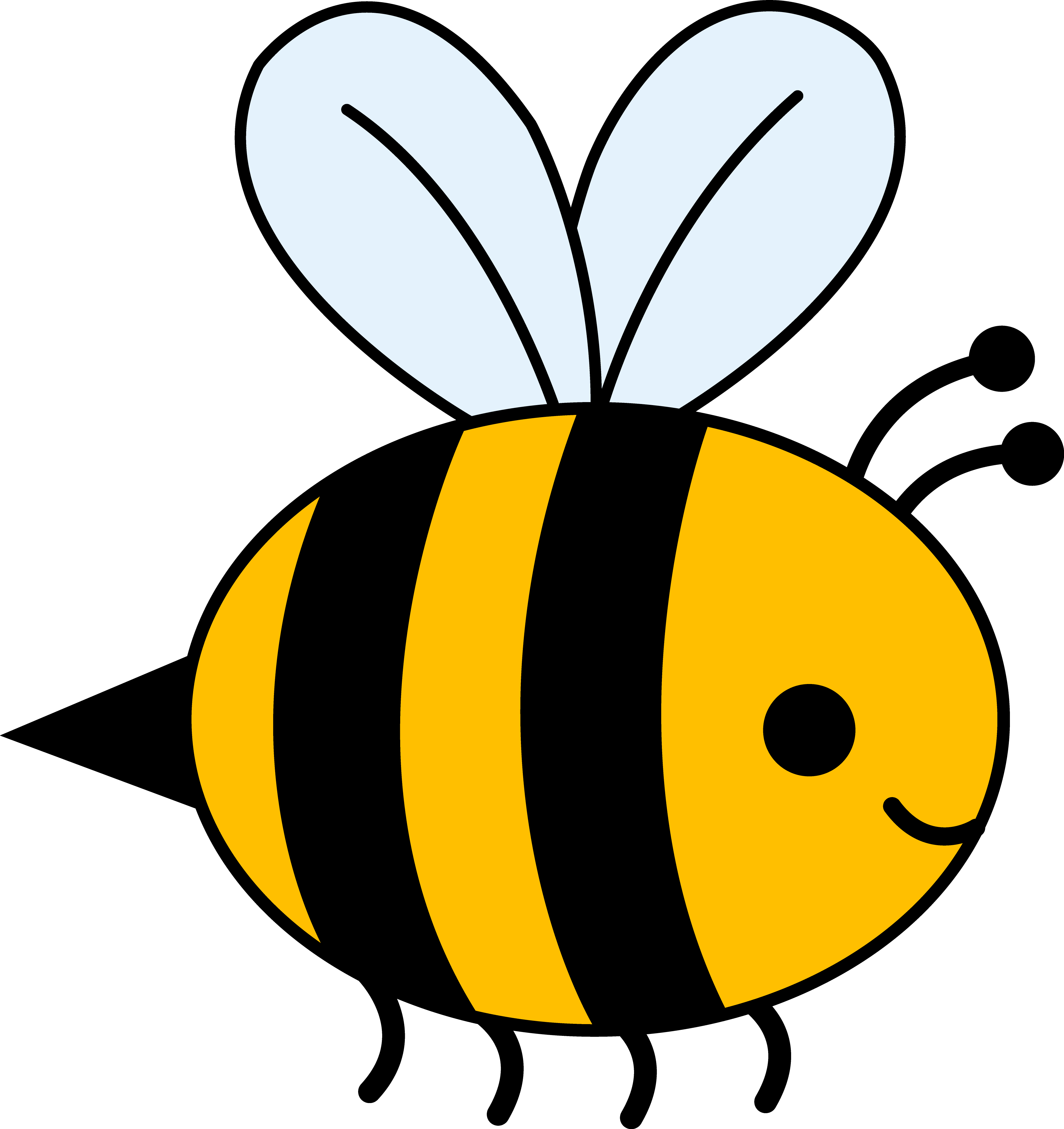 Bumble bee cute bee clip art love bees cartoon clip art more clip