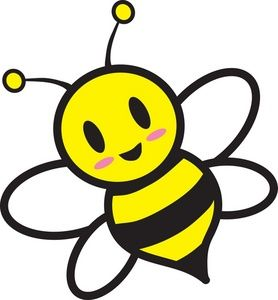 Bumble bee honey bee clipart image cartoon honey bee flying around honey