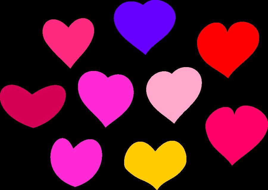 Bundle Of Hearts SVG Vector File, Vector-Bundle of Hearts SVG Vector file, vector clip art svg file .-3