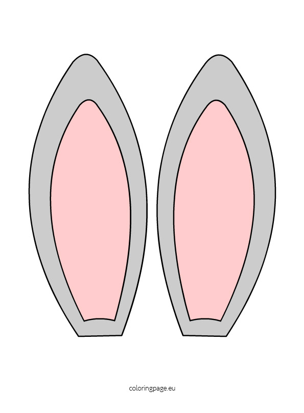 Bunny Ears Clipart Coloring Page-Bunny Ears Clipart Coloring Page-0