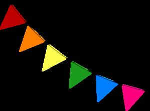Bunting Diagonal Clip Art