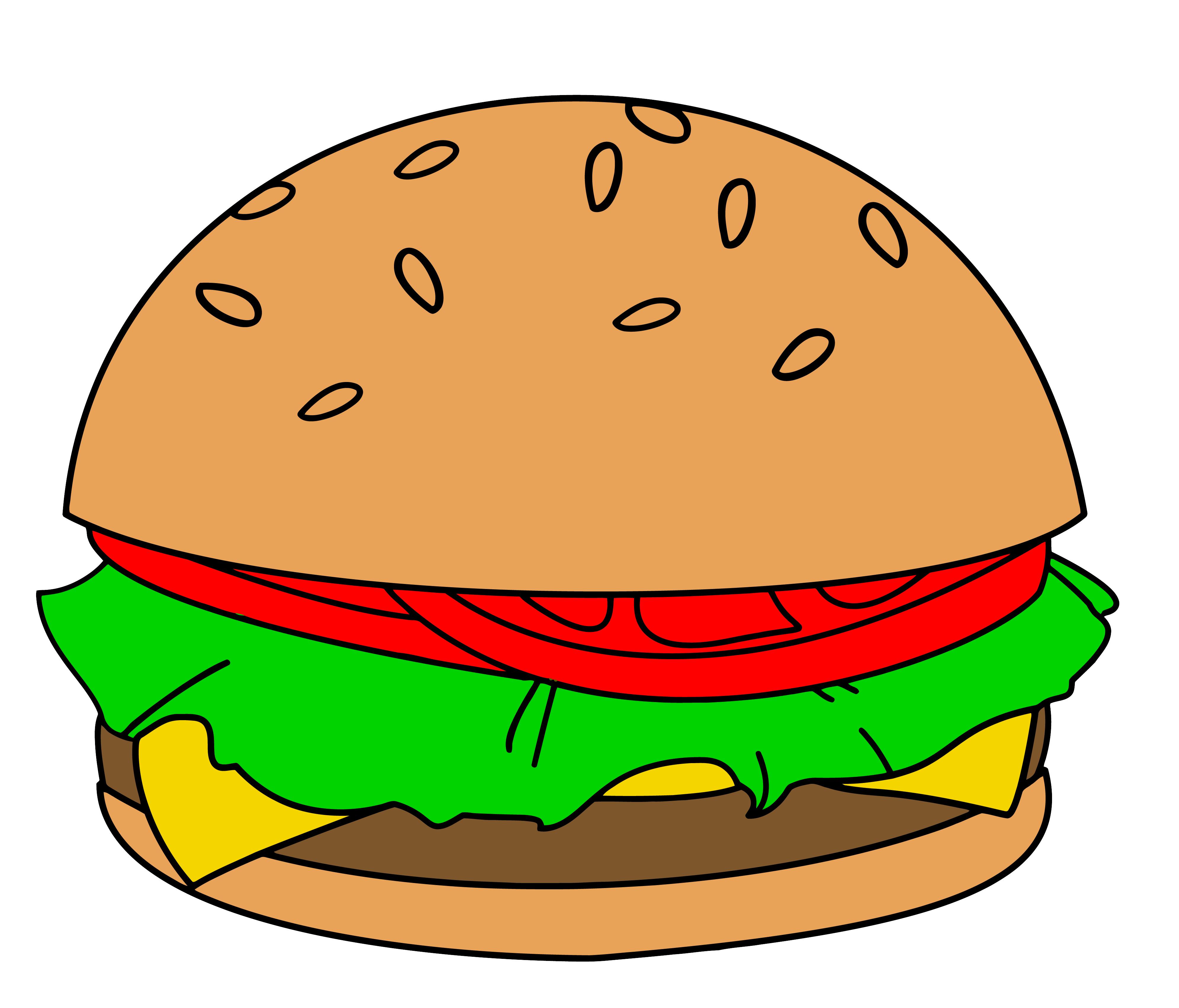 Burger Clipart-Burger Clipart-4