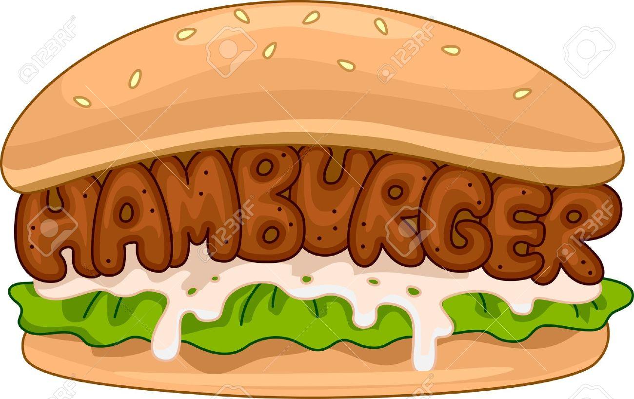 burger clipart: Illustration .-burger clipart: Illustration .-15