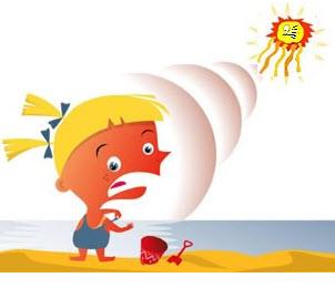 Sun Burn Clipart #1