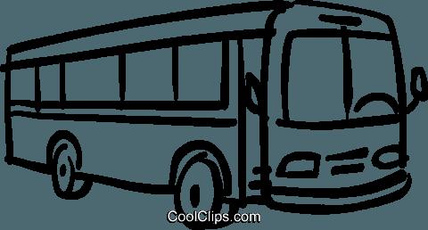 bus clipart schwarz weiß