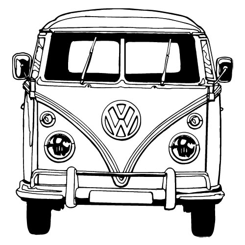 Bus Coloring Pages Vw Bus Coloring Pages ...