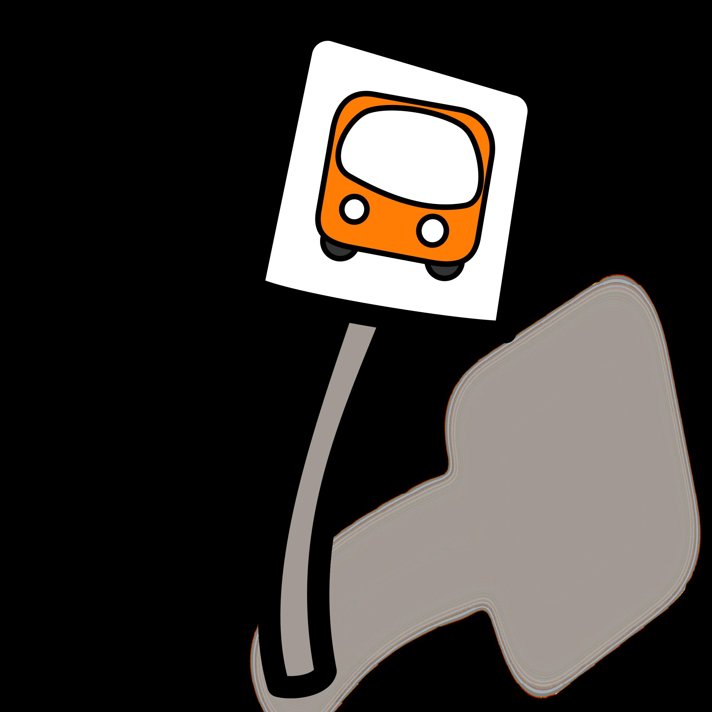 ... Bus stop clip art ...