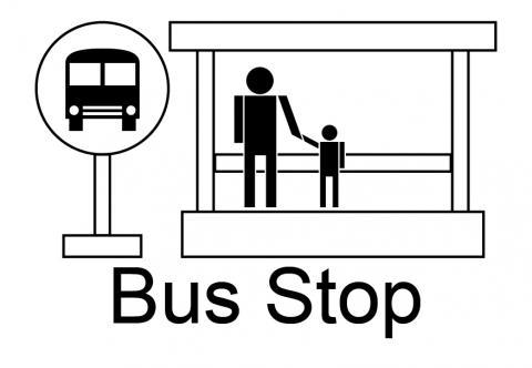 Bus Stop Symbol Clipart Best