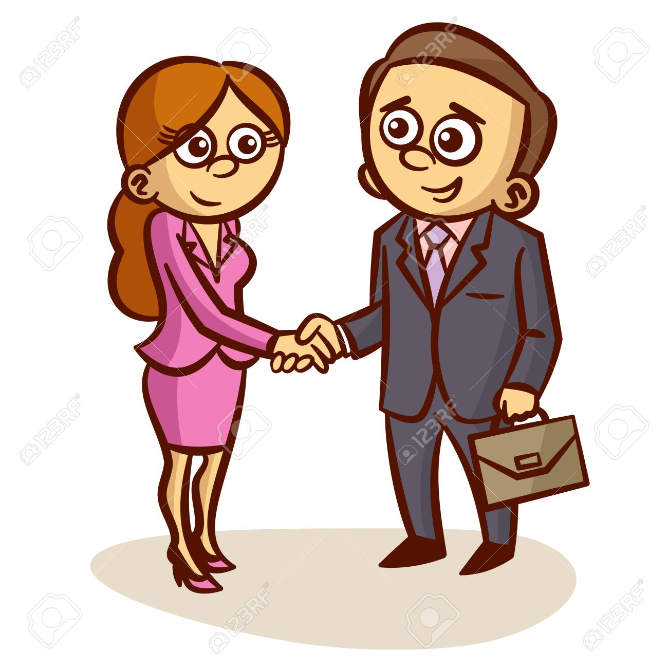 Business Partners Shaking Hands Partnership Clipart Stock Vector - 61250322