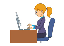 Woman Working In Office Clipart Size: 75 Kb