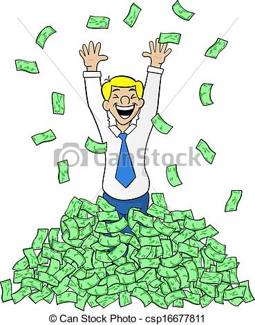 ... Business Man With A Pile Of Money - -... business man with a pile of money - vector illustration of a... ...-9