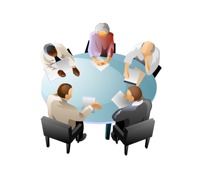 Business meeting clipart 3