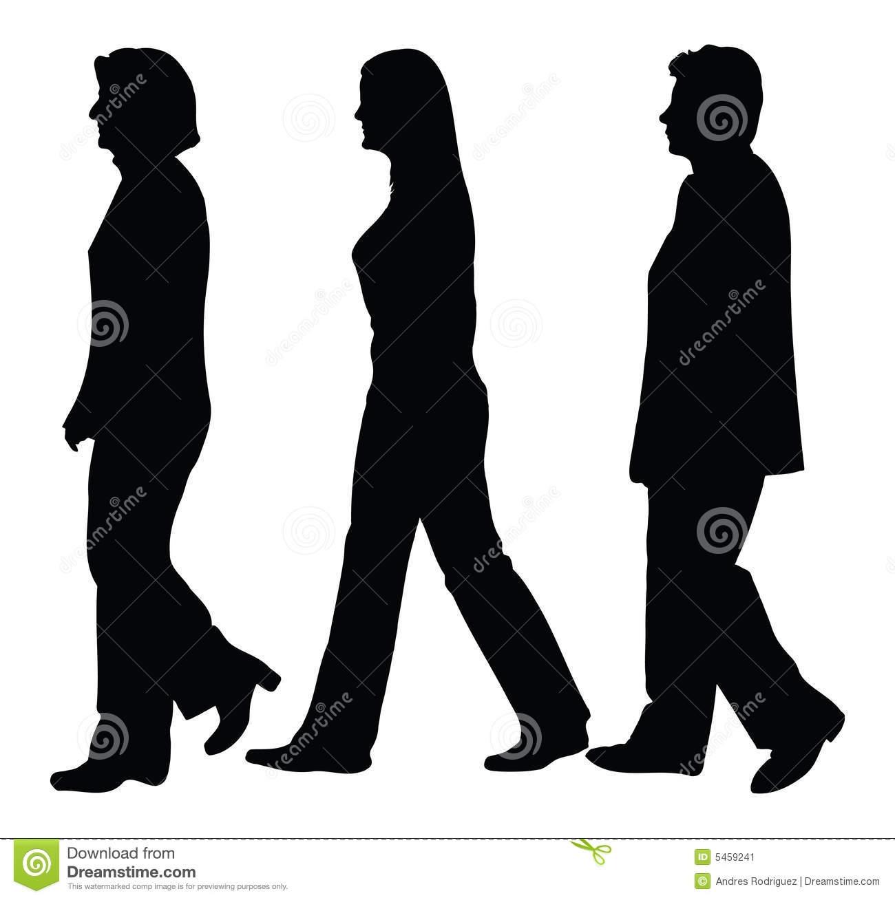 Business People Walking .-Business People Walking .-5