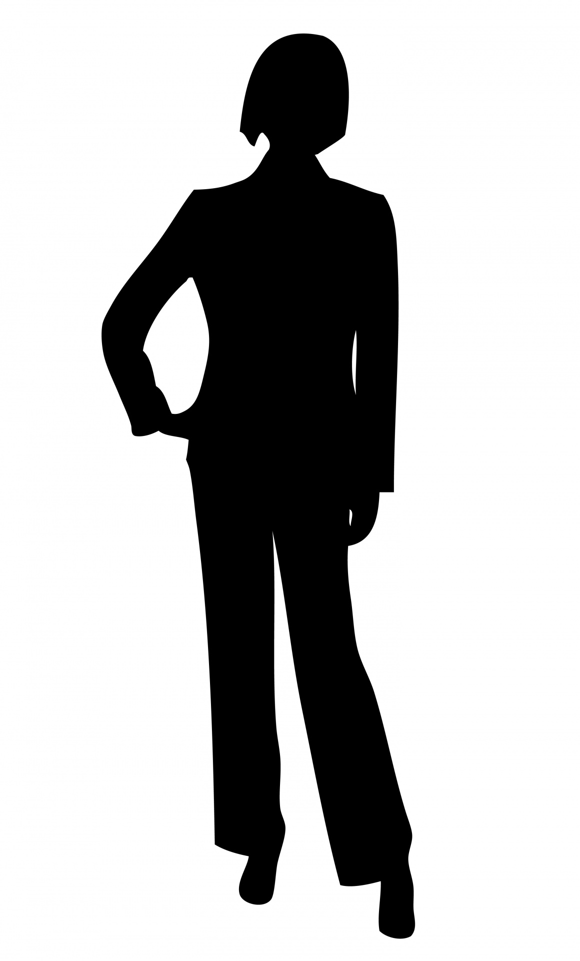 Business Woman Silhouette .