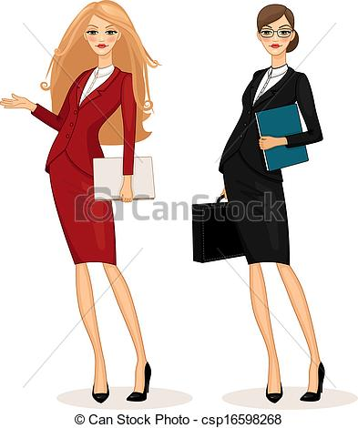 ... business woman - Successful business woman set vector... business woman Clip Art ...