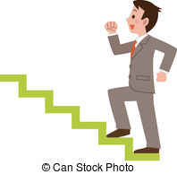 ... Businessman climbing the stairs