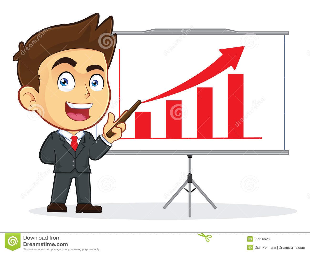 Businessman Doing A Presentation Royalty Free Stock Image Image
