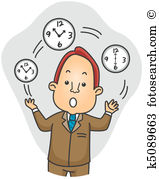 Businessman Juggling Time-Businessman Juggling Time-0
