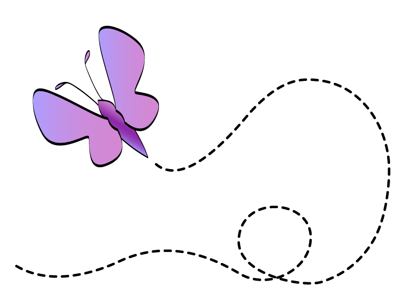 butterfly clip art | Pink Ora