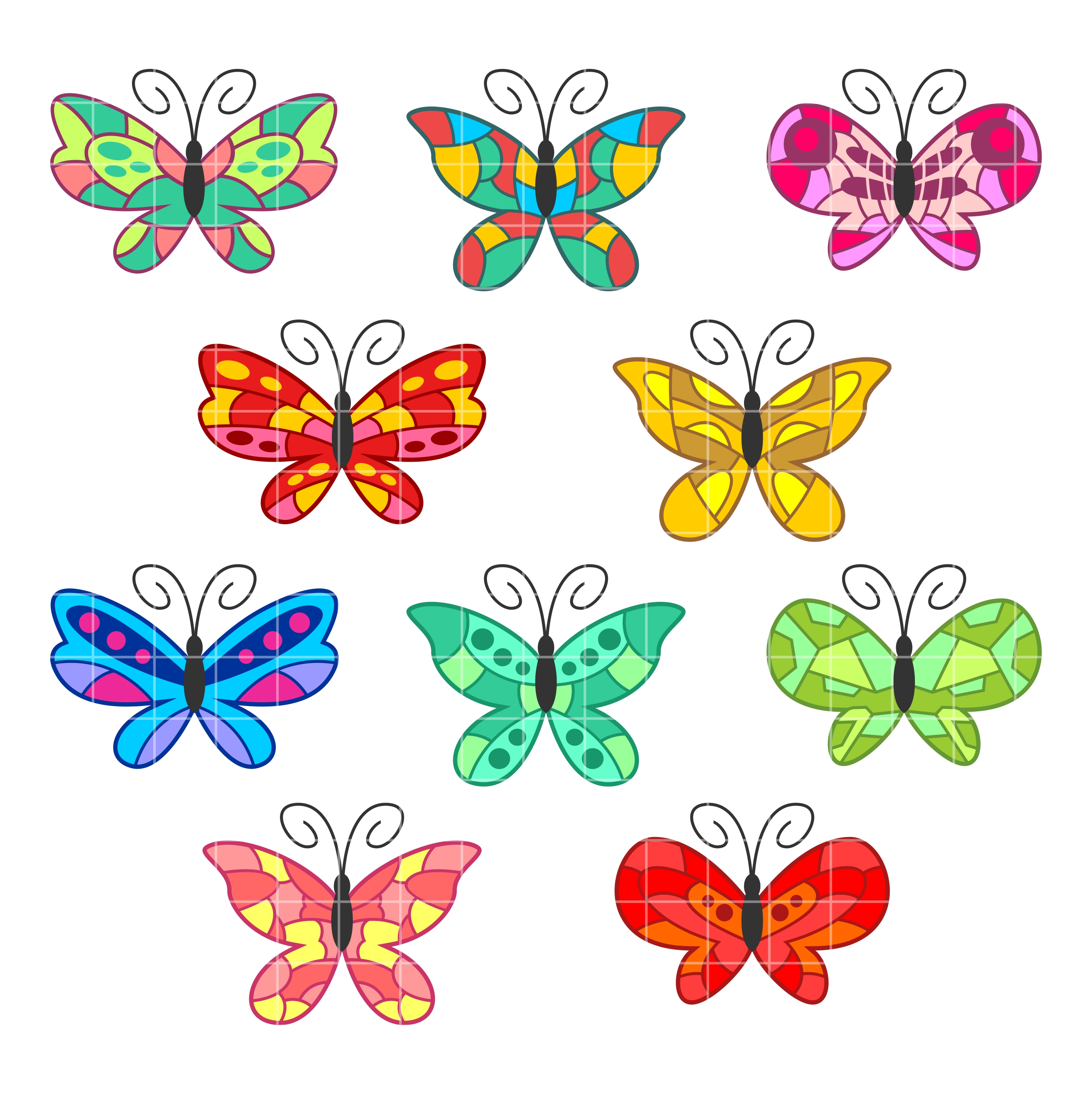 Butterflies colorful butterfly designs clipart clipartall