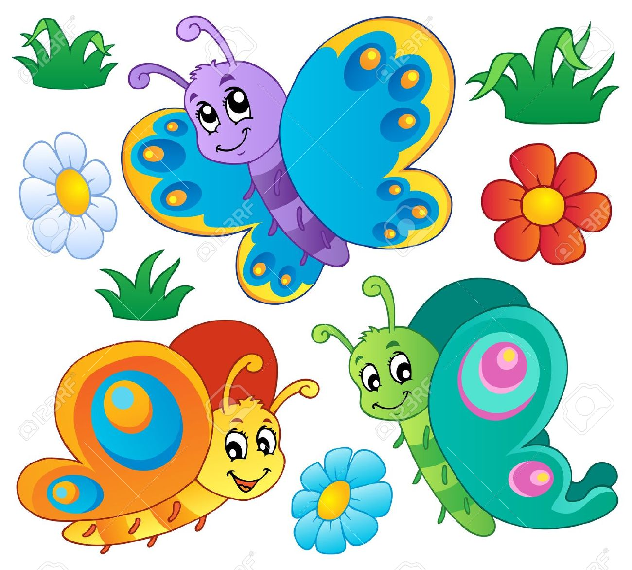 Butterflies cute butterfly clipart images clipartall