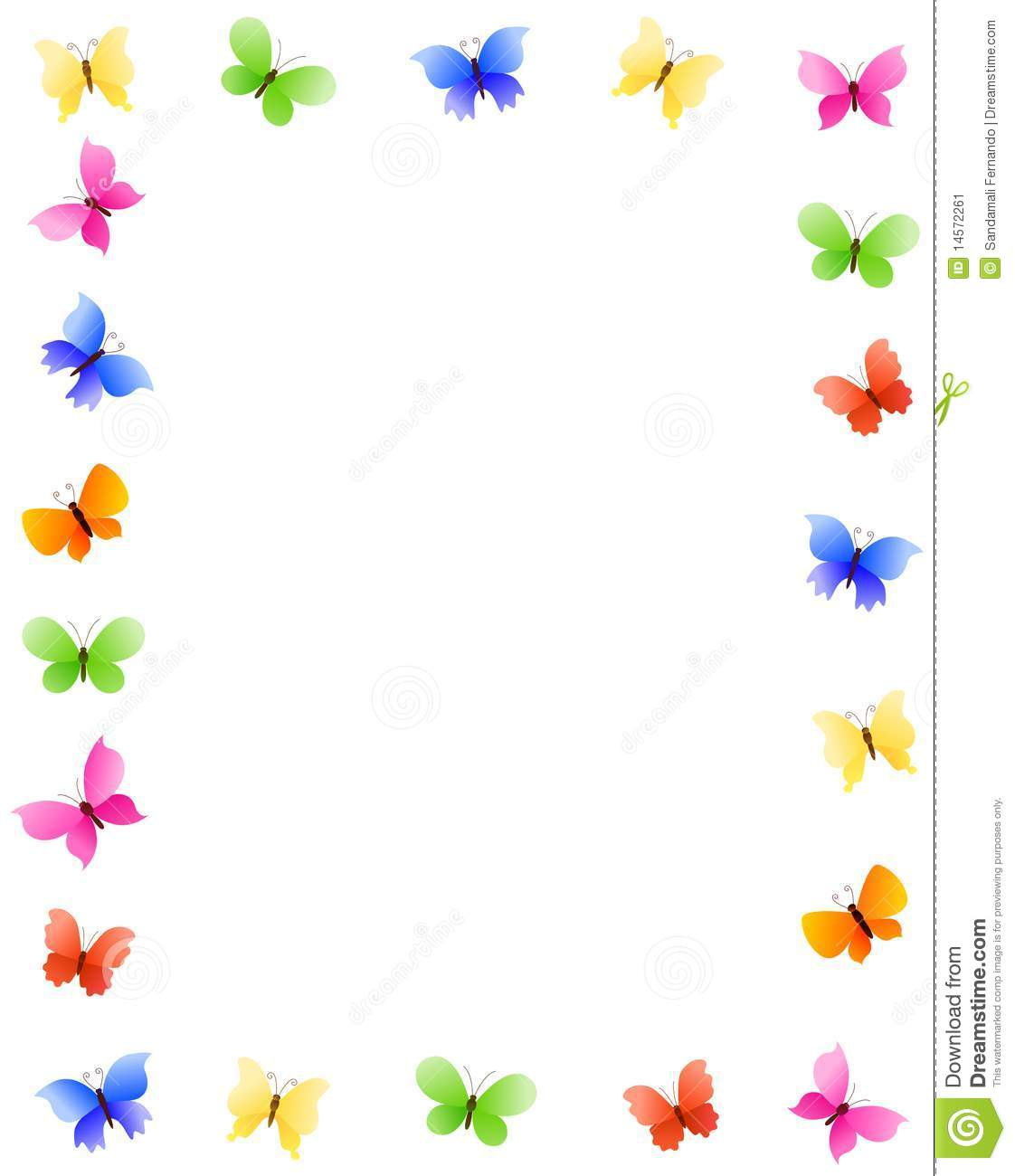 Butterfly Border Clipart #1