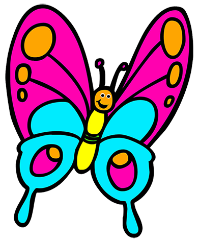 butterfly cartoon, cartoon butterfly clipart