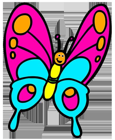 butterfly cartoon, cartoon butterfly clipart