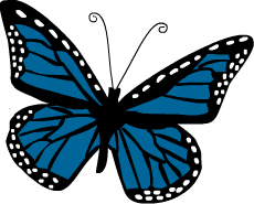 butterfly clip art, butterfly .