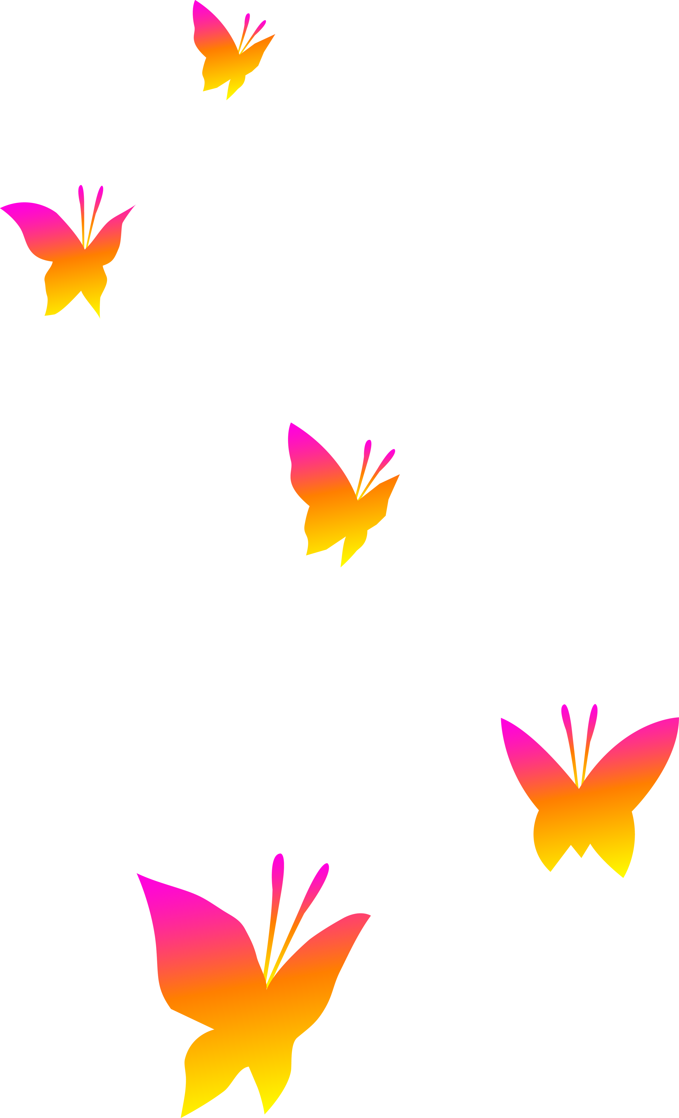 Butterfly Clip Art | Pink Orange And Yel-butterfly clip art | Pink Orange and Yellow Butterflies - Free Clip Art-8
