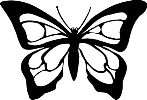 Butterfly Clipart Black And White Panda -Butterfly clipart black and white panda free clipart-11