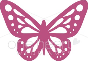 Butterfly Accent Clipart