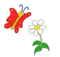 Butterfly and Flower Clipart Size: 76 Kb