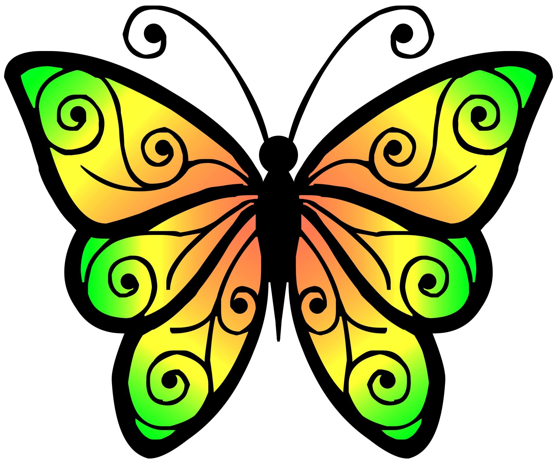 Clipart Butterfly 4